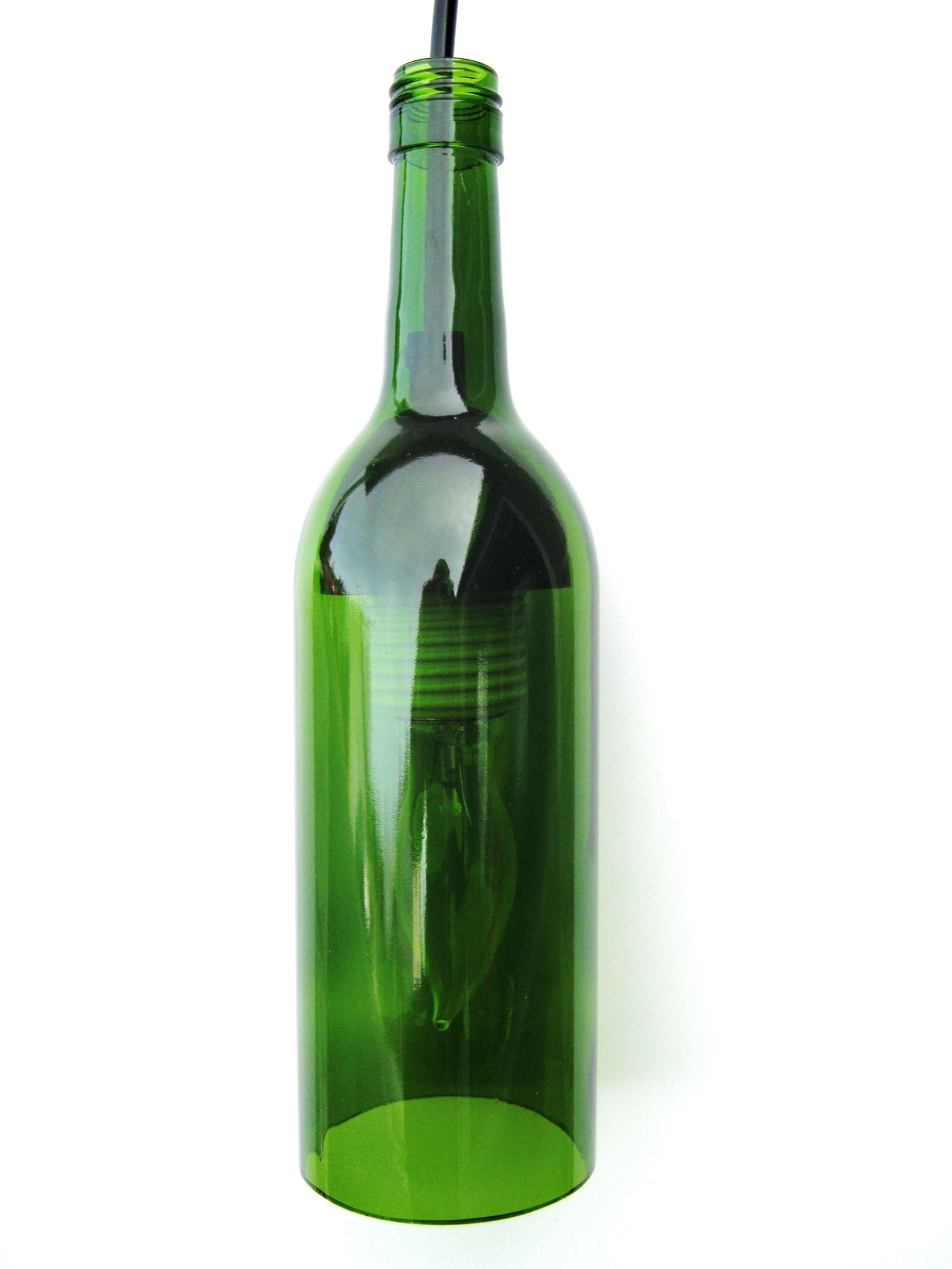 Walla Walla Wine Bottle Pendant Light Boiled Down Money Goo